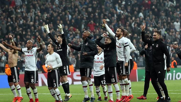 Besiktas Istanbul schaffte erstmals in der Geschichte den Einzig in die Achtelfinals der Champions League