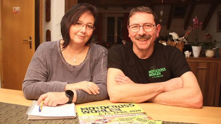Motocross-OK-Präsident Ueli Hilfiker und seine Frau Gisela müssen derzeit alle Fans, Helfer und Fahrer vertrösten.