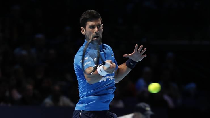 Viel zu stark für Matteo Berrettini: Novak Djokovic startete sehr überzeugend in die ATP Finals