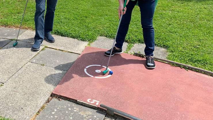 Ein Minigolf-Spiel an der frischen Luft?
