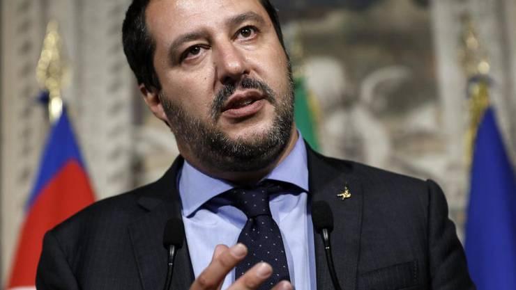 Malta soll mehr Flüchtlinge aufnehmen: der neue italienische Innenminister Matteo Salvini. (Archivbild)