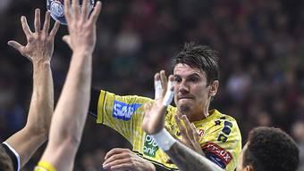 Andy Schmid war auch von den Kielern nicht zu stoppen und trifft sechsmal