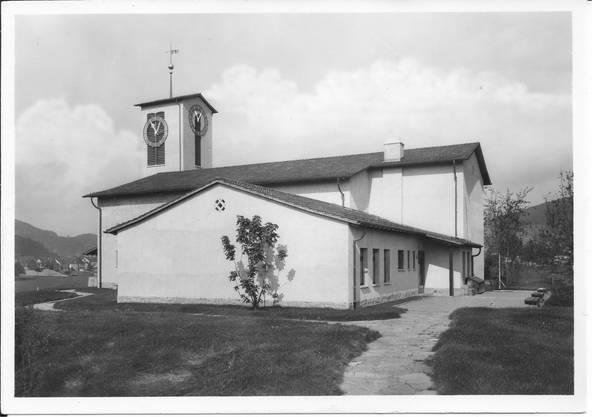 Reformierte Kirche Wettingen nach dem Bau