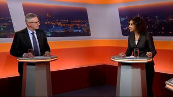 In der Sendung «TalkTäglich» auf Tele M1 diskutierten die Parteipräsidenten Andreas Glarner (SVP) und Gabriela Suter (SP) über die Corona-Schutzmassnahmen des Kantons.