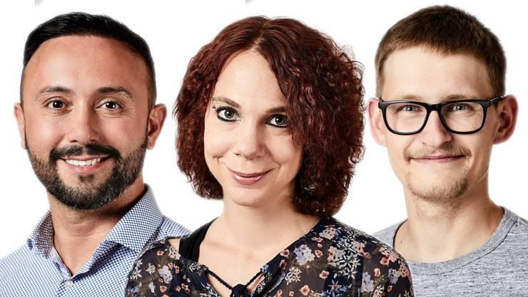 Drei Aargauer Anwärtern für den «Beobachter»-Preis.