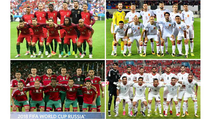 Gruppe B: Portugal, Spanien, Marokko, Iran