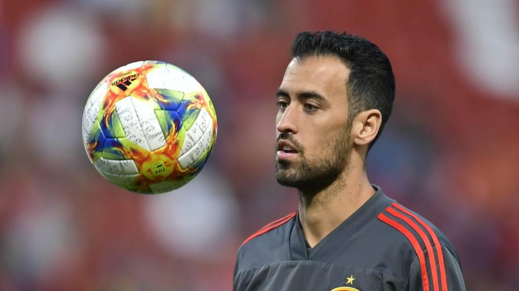 Sergio Busquets befindet sich noch in der Isolation und fällt für die Partie gegen Schweden aus