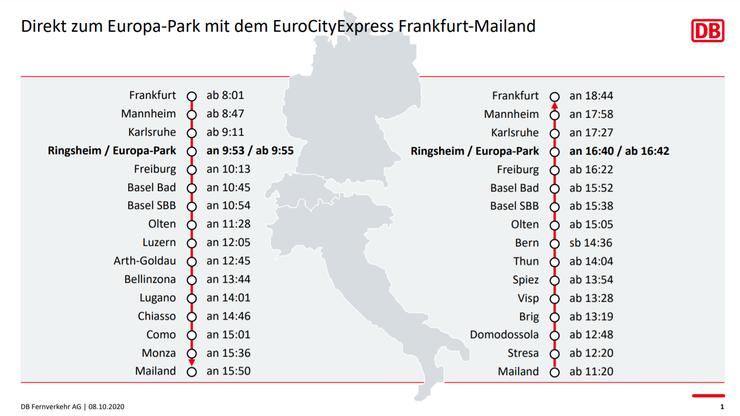 Die neuen Zugverbindungen zum Europa-Park.