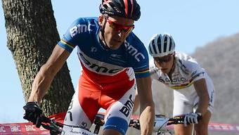 Julien Absalon (vor Nino Schurter) ist das Aushängeschild in Madiswil.