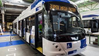Der Trolley stand im Juli in Lausanne noch im Depot.