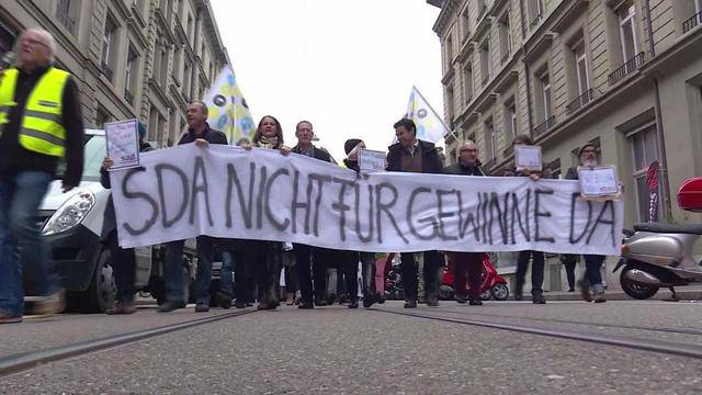 Grosser Streik der SDA
