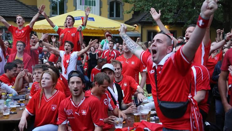 Nati-Fans aus Olten und Umgebung können auch während der kommenden Fussball-WM gemeinsam auf der Schützi mitfiebern und feiern.