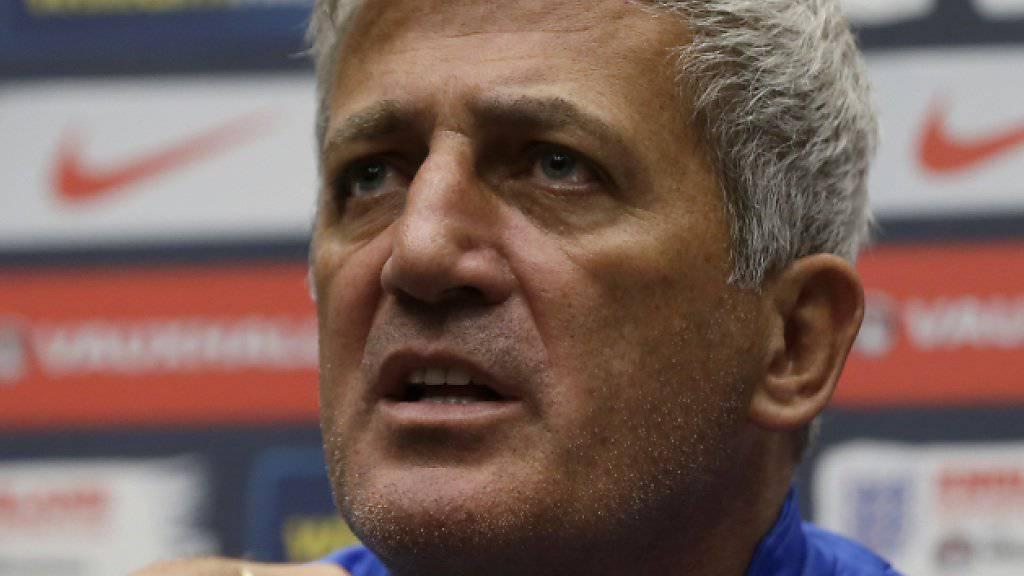 Nationalcoach Vladimir Petkovic gibt sich vor den Medien zuversichtlich