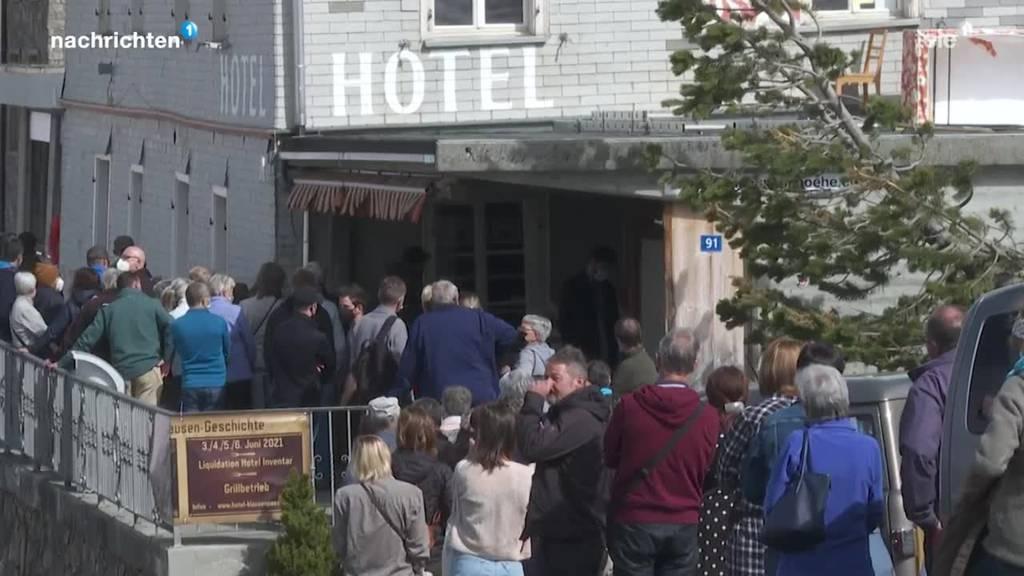 Nun schlägt für das alte Hotel Klausenpass die letzte Stunde