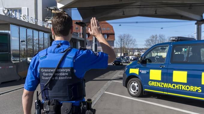 Das Grenzwachtkorps an der Grenze zu Deutschland.