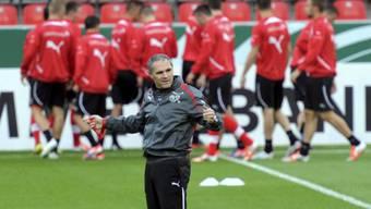 Pierluigi Tami im Training mit der Schweizer U21-Nati