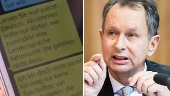 Der ehemalige FDP-Präsident Philipp Müller beleidigt einen Schweizer-Wähler schwer. Nur ein Ausrutscher oder sein Ernst?