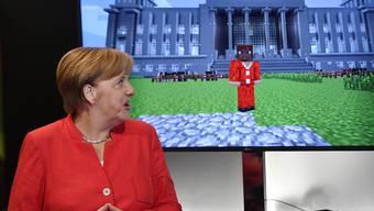 Die deutsche Kanzlerin Angela Merkel eröffnete offiziell die Gamescom.