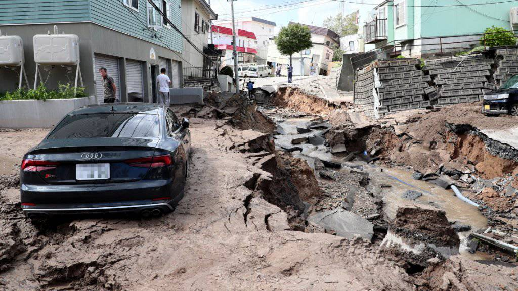 Die Regierung in Tokio macht in erster Linie Wirbelstürme und ein Erdbeben für den Rückgang der japanischen Wirtschaft im dritten Quartal verantwortlich. (Symbolbild)