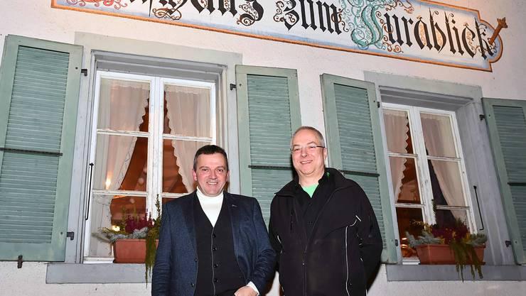 Zwei Gretzenbacher, die sich in einer Solothurner Beiz kennengelernt hatten und dann mithalfen, die SVP im Niederamt aufzubauen: Nationalrat Walter Wobmann und Werner Ramel.