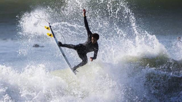 Der Surfer stiess mit einem Delfin zusammen (Symbolbild)
