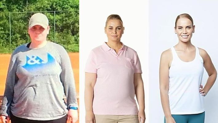 Gewichtsverlust vor und nach Immobilien eins