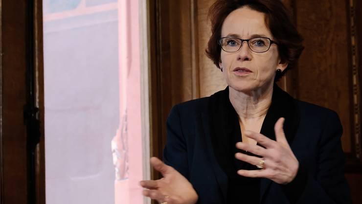 Eva Herzog rechnet 2017 mit einem Überschuss. (Archiv)