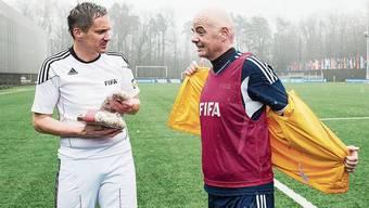 Sind sich nah: Staatsanwalt Rinaldo Arnold, Fifa-Chef Gianni Infantino.