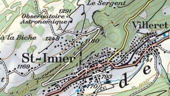 Oberhalb von Saint-Imier löste sich von einem Felsband ein ordentlicher Brocken.