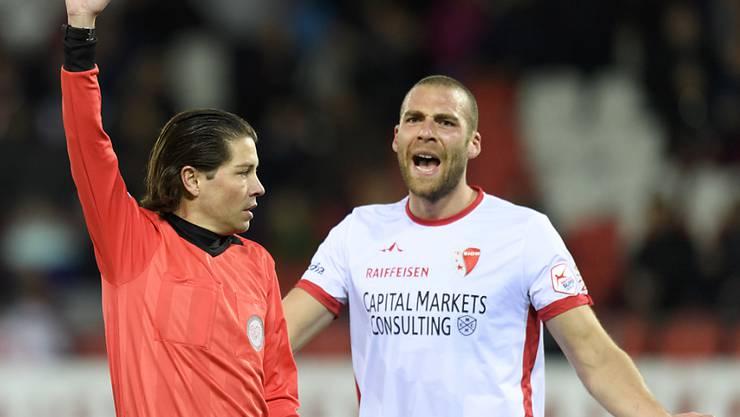 Pajtim Kasami und Sion hadern mit einigen Entscheiden von Schiedsrichter Pascal Erlachner