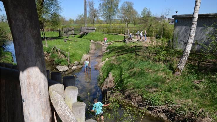 Beliebt im Murimoos sind der Kinderspielplatz und der Wasserspielplatz. ES