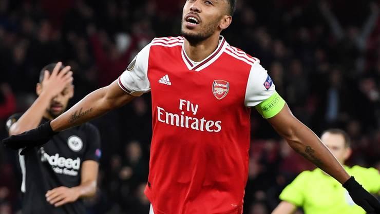 Pierre-Emerick Aubameyang rettete Arsenal mit zwei Toren einen Punkt