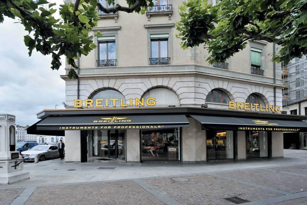 Die Breitling-Boutique in Genf