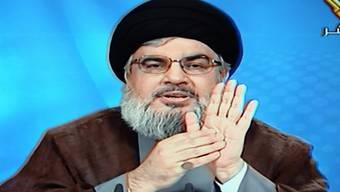 Hassan Nasrallah bei seiner TV-Ansprache
