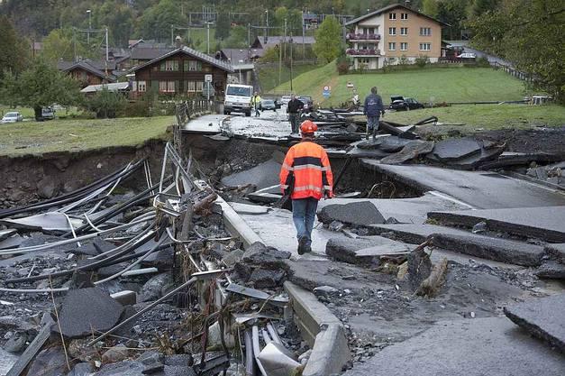 Die Strasse von Fruigen nach Kandersteg bzw. was davon übrig ist