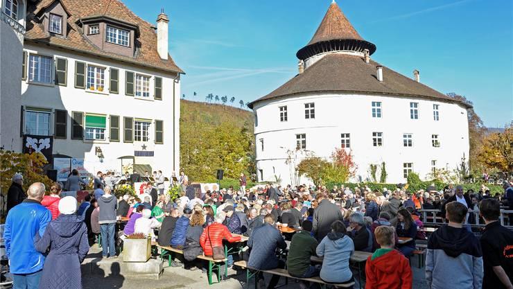 Grossaufmarsch vor dem Schloss.Martin Töngi