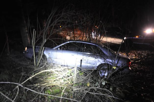 Das Auto geriet in der Folge ab der Strasse und kollidierte schliesslich mit einem Baum.