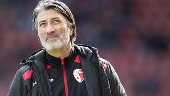 Trainer Murat Yakin musste mit Schaffhausen die erste NIederlage hinnehmen