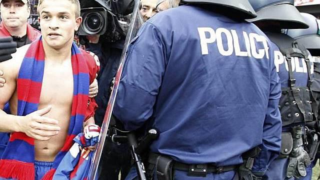 Die Polizei steht nach der Finalissima im Einsatz
