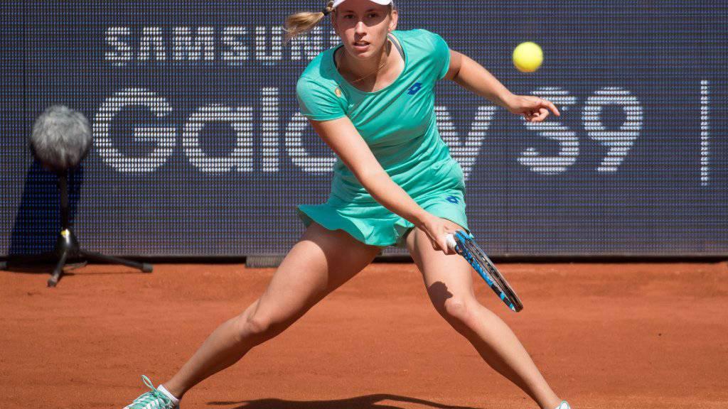 Die Belgierin Elise Mertens gewinnt das Turnier in Lugano.