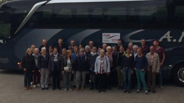 Reisegruppe auf dem Mont Vully
