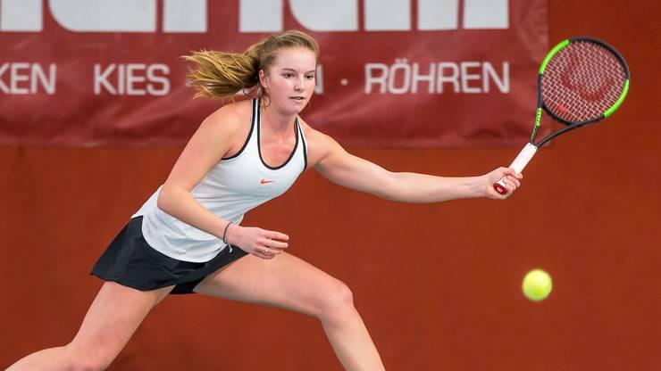 Dominique Meyer gewann für die Frauen des TC Zofingen bereits das zweite Einzel in dieser Saison.