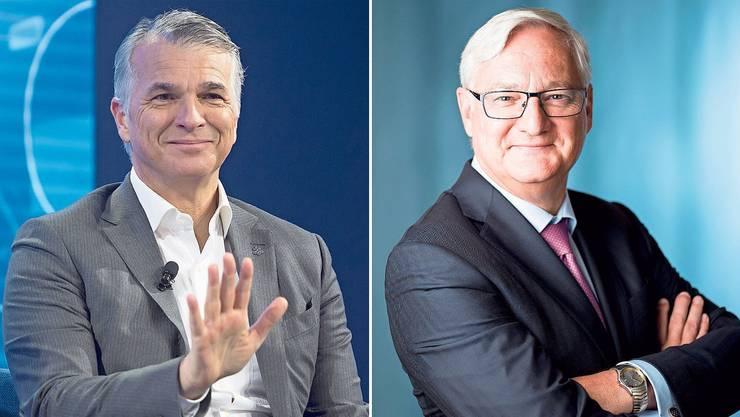 Zeigen politisches Gespür: Noch-UBS-CEO Sergio Ermotti und ABB-Präsident Peter Voser