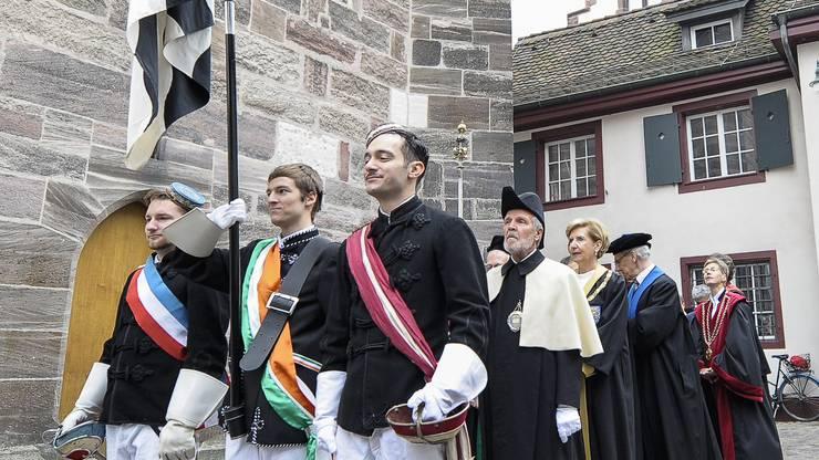 Einer der grossen Auftritte der Studentenverbindungen: Der Dies Academicus der Universität Basel.