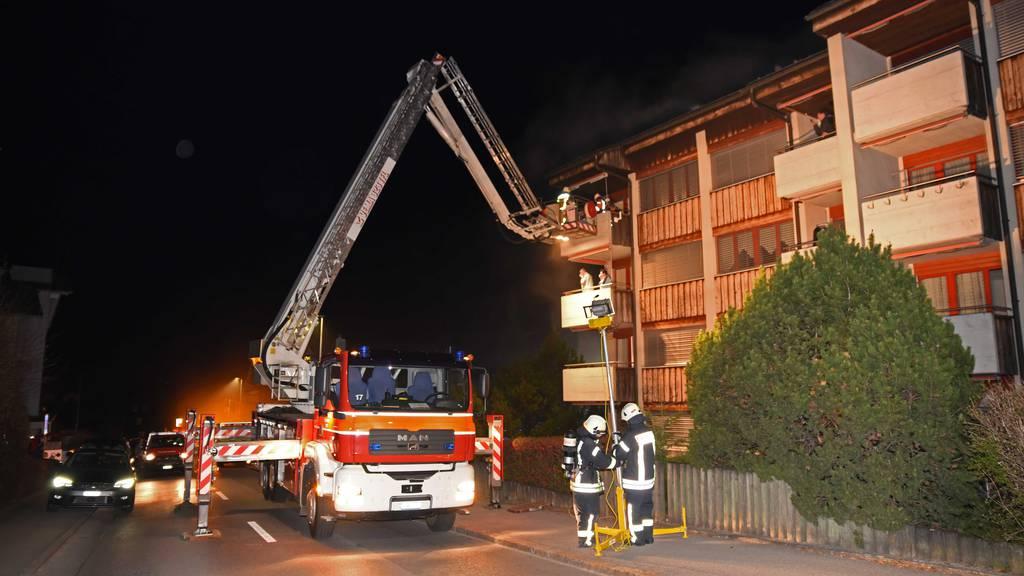 Brand in einem Mehrfamilienhaus in Kerns