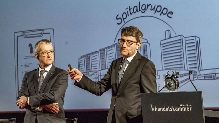 Die beiden Gesundheitsdirektoren Thomas Weber (BL) und Lukas Engelberger (BS).