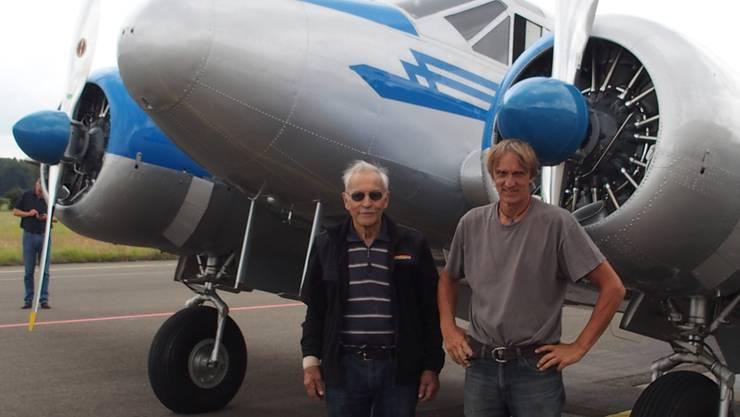Startbereit: Copilot Max Vogelsang (links) und Pilot Klaus Plasa.