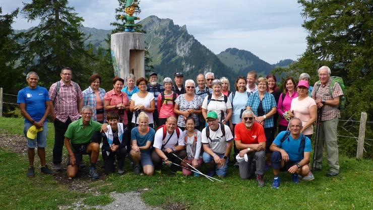 Gruppenfoto auf der Riggisalp