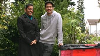 Hatten die Idee für den «Garten jEden»: Mirjam Strub und Flavio Uhlig von der Jugendarbeit Wettingen.  Archiv/Sabina Galbiati