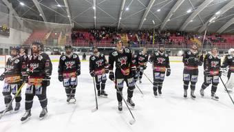 Die Argovia Stars müssen sich in der KEBA Aarau gegen den EHC Frauenfeld geschlagen geben.